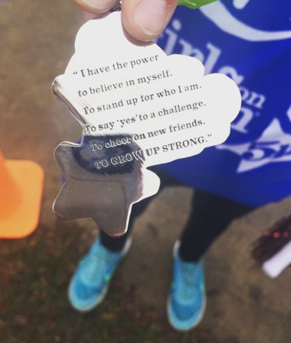Emily coach 5k medal